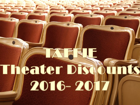 TAFFIE 2016 2017 Theater Discount Codes
